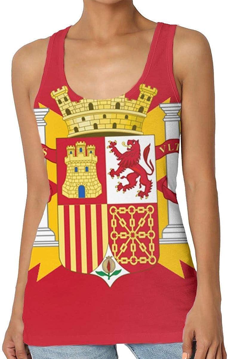 Camiseta sin Mangas Estampada Estampada para Mujer Camiseta sin Mangas con Bandera de España: Amazon.es: Ropa y accesorios