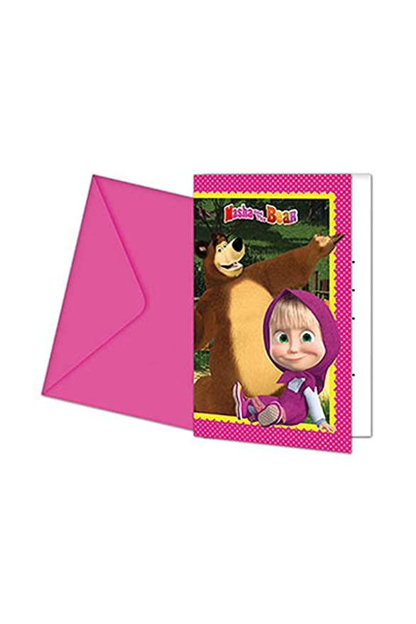 Amazon.com: Masha y el Oso invitaciones a fiesta: Toys & Games