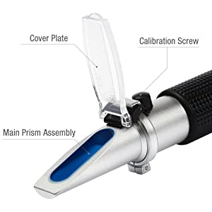 Anpro Brix Refractometer for Homebrew, Beer Wort Refractometer Dual Scale Specific Gravity 1.000-1.120 and Automatic Temperature Compensation 0-32% Replaces Homebrew Hydrometer (Tamaño: M)