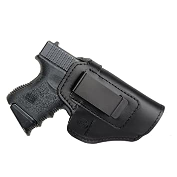 Kosibate Leather IWB Holster for Glock 19 23 43 26 / S&W M&P
