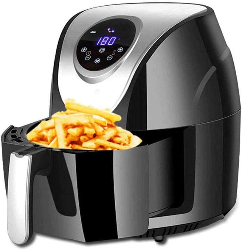 Compact Air Fryer,Oil Free Presets Touchscreen Hot Air Fryer Oven,Auto Shut Off and 30 Minute Timer,Air Fryer Cookbook Included,LED Digital Touchscreen