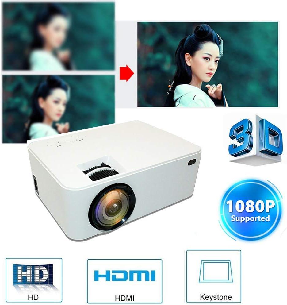 Link Co Mini proyector 1080P Compatible Pantalla de 176