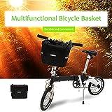 ezyoutdoor Bicycle Basket Mountain Bike Aluminum Basket Front Basket Folding Detachable Cycling Bag Quick-disassembly Frame Pet Carrier Bike Detachable Cycle Front Carrier Bag Pet Carrier