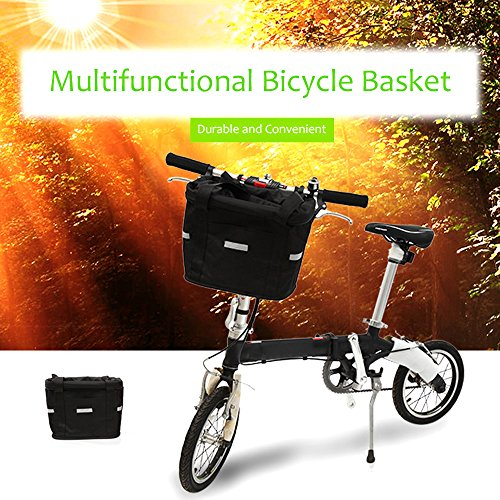ezyoutdoor Bicycle Basket Mountain Bike Aluminum Basket Front Basket Folding Detachable Cycling Bag Quick-disassembly Frame Pet Carrier Bike Detachable Cycle Front Carrier Bag Pet Carrier