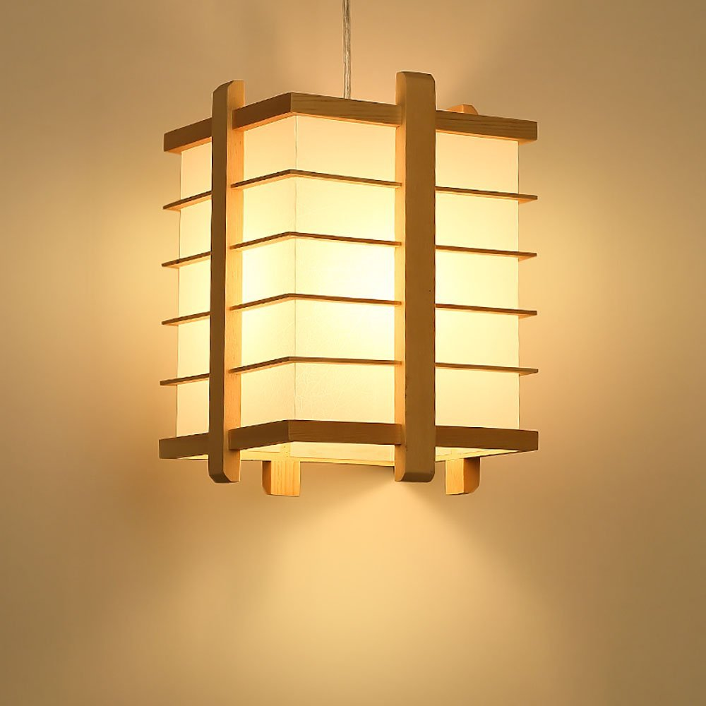 Chandelier Nordic Japanese-style hotel restaurant wood personality single head