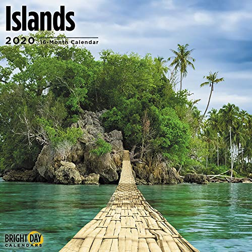 Islands Collection Wall Calendars by Bright Day Calendars 16 Month Wall Calendar 12 x 12 inches (Islands 2020) (Best Places To Visit In December Around The World)