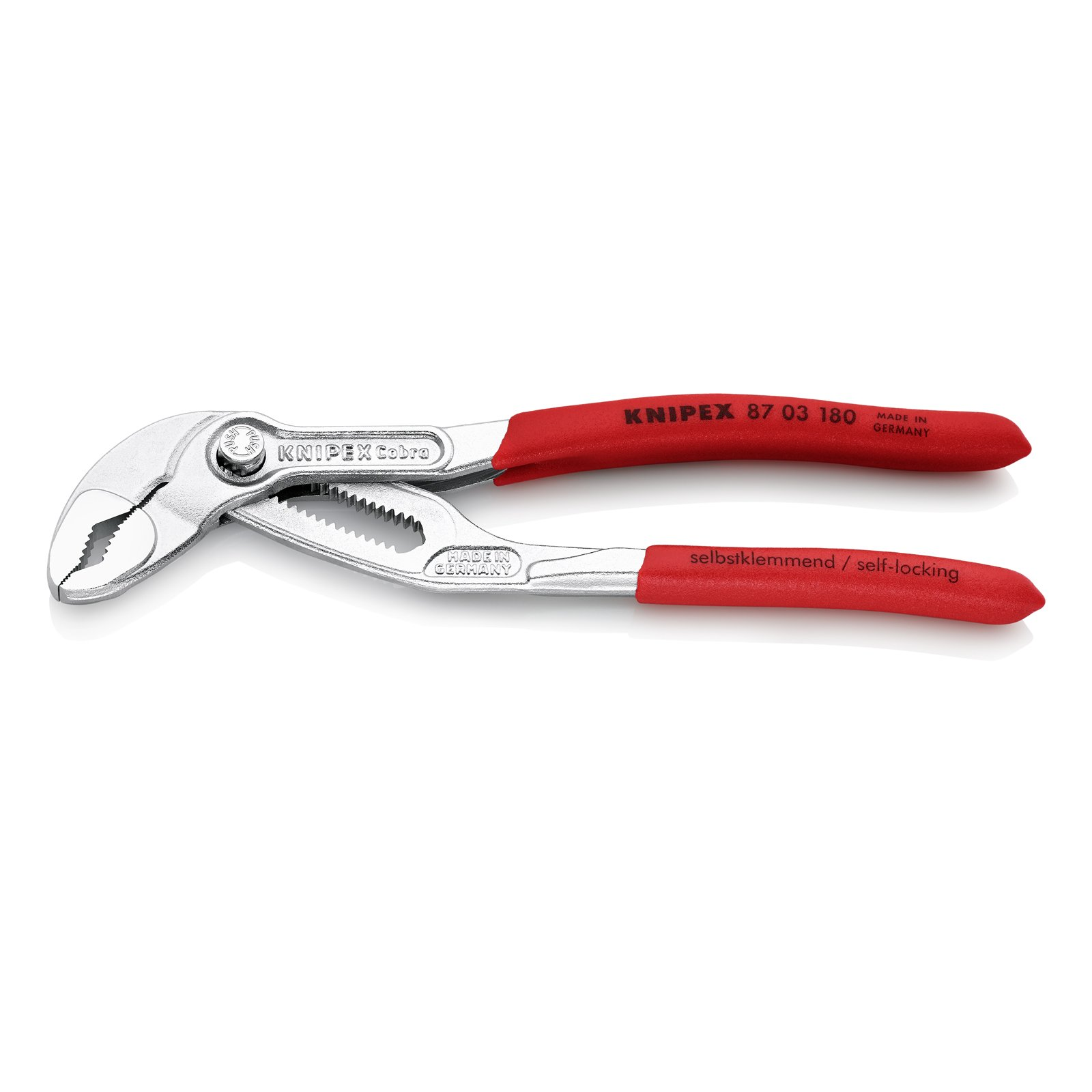 Knipex 87 03 180 Water Pump Pliers''Cobra'' 7,09'' chrome plated by KNIPEX Tools
