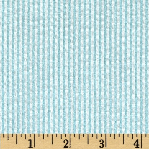 Kaufman Classic Seersucker Stripe Sky Fabric By The Yard