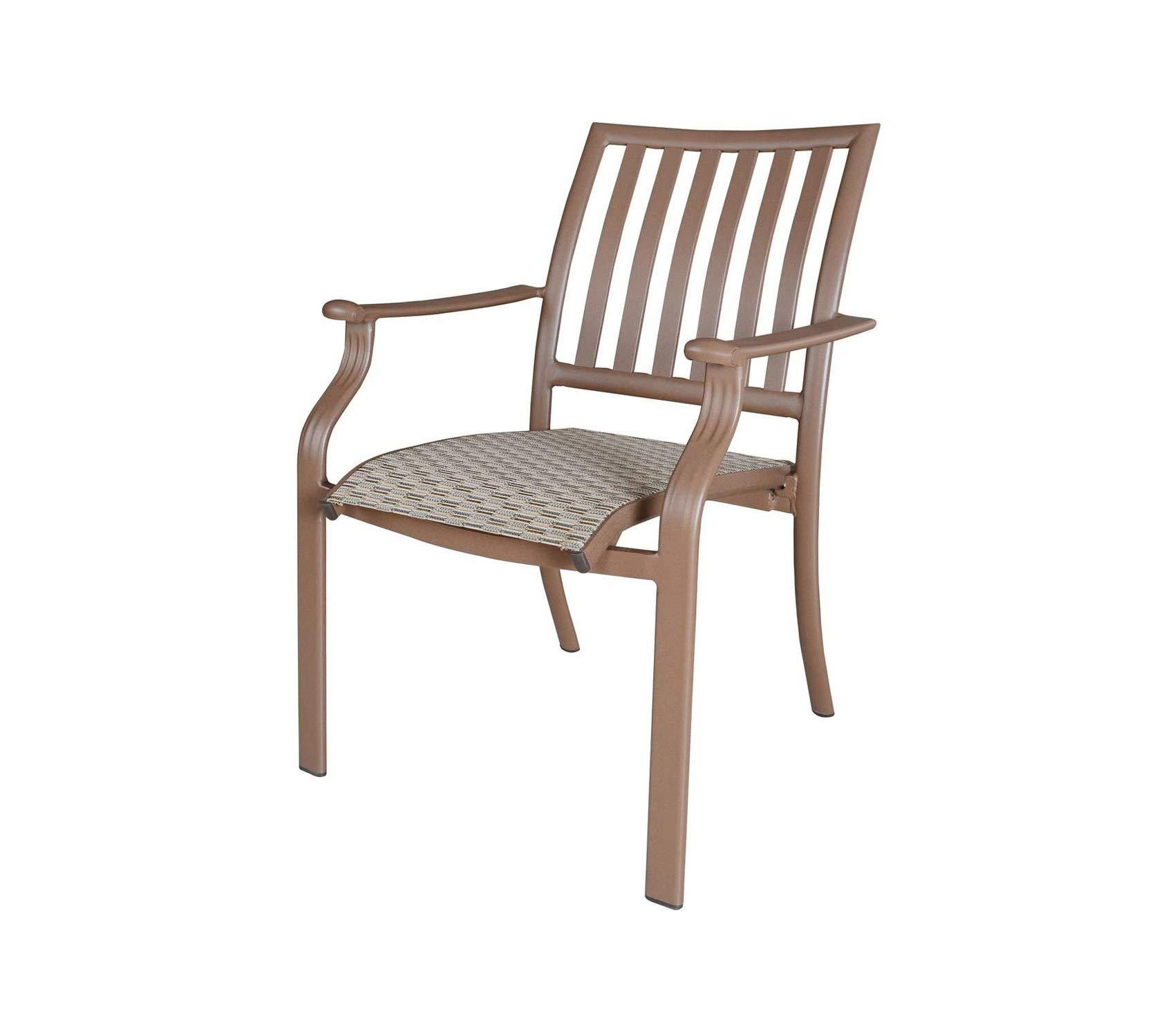 Pаnаmа Jаck Оutdооr Patio Outdoor Garden Premium Stackable Sling Arm Chair, Espresso Finish