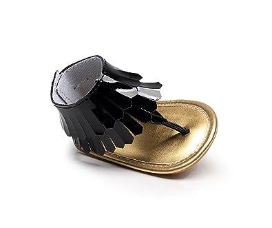 47ff631117ef FLT Baby Girl T-bar Sandals Roman Sandles Tassel Summer Boots Sude Leather  Flip Flops