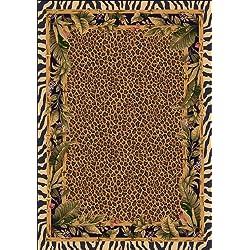 "Milliken TOP 30 Jungle Safari Rug Area Rug Skins/5'4"" x7'8/Rectangle/Nylon/Brown"