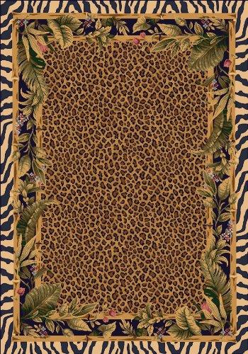 Milliken TOP 30 Jungle Safari Rug Area Rug Skins 5 4 x7 8 Rectangle Nylon Brown