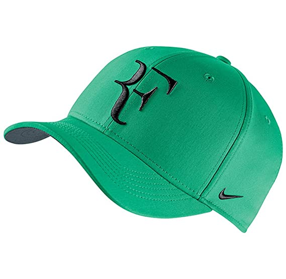 6ef5d1ccc0101 Amazon.com  Nike Mens Roger Federer RF Classic 99 Aerobill Tennis Hat  Stadium Green Flint Grey Black  Sports   Outdoors