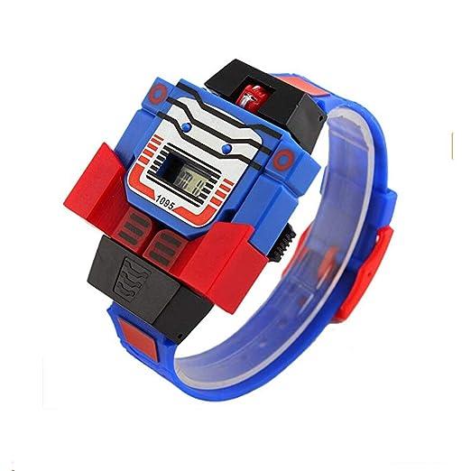 Reloj Digital para niños y niñas con Luces LED para transformadores de Bumblebee y Dibujos Animados, Deportivo, robote, Reloj de Pulsera: Amazon.es: Relojes