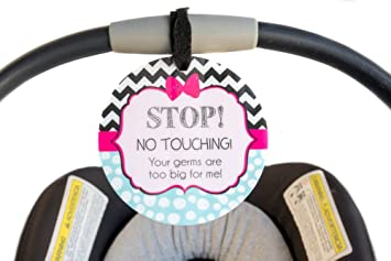 Girl Preemie Sign Newborn Baby Car Seat Tag Shower Gift Stroller