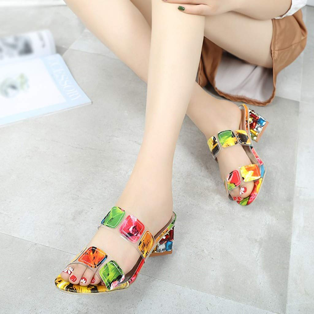Rhinestone Two Strap Heels Dress Pumps Court Shoes Elegant Party Sandals Malbaba Women Slip On Sandals