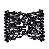 Lovef 1 PCS Combs Stretchable Double Combs ,Popular Hand Made Beadbed Rhinestone Hairpin