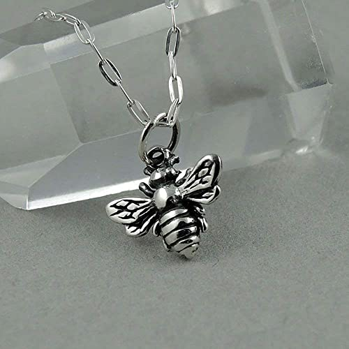 Small Honey Bee Sterling 925 Silver Charm