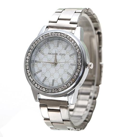 Venta de Gaza Steel Relojes 2.015 hombres de la manera de los hombres reloj de pulsera de plata diamante Series: Amazon.es: Relojes