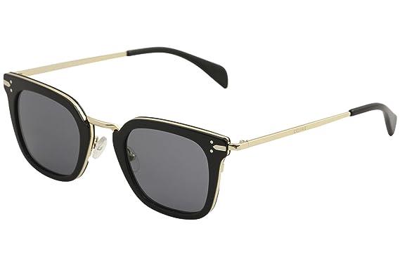 4adc95b56d8e Celine 41402 S ANWG8 Black Gold 41402 S Oval Sunglasses Lens ...