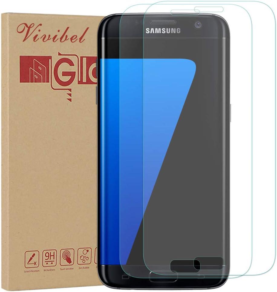 Vivibel - Protector de Pantalla para Galaxy S7, 2 Unidades, Cristal blindado 9H, Cobertura Completa, fácil de Poner para Samsung Galaxy S7 (Transparente): Amazon.es: Electrónica