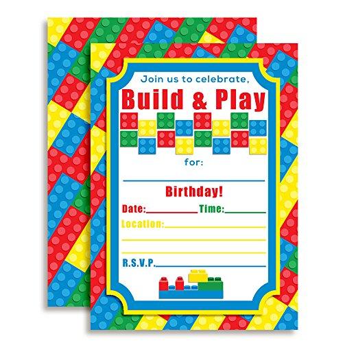 Building Blocks Birthday Party Invitations, 20 5