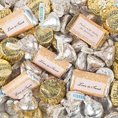 Gold Wedding Candy Hershey's Chocolate Mix 5lb (Wedding Chocolate Bars)