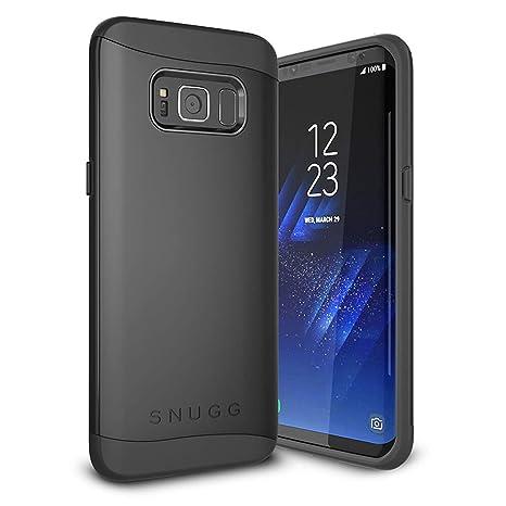 Snugg Funda Galaxy S8 Plus, Samsung Galaxy S8 Plus Case Slim Carcasa de Doble Capa [Infinity Series] Revestimiento con Protección Anti-Golpes - Negro