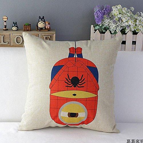 Apexshell (TM) spiderman-minions algodón lino cuadrado manta ...