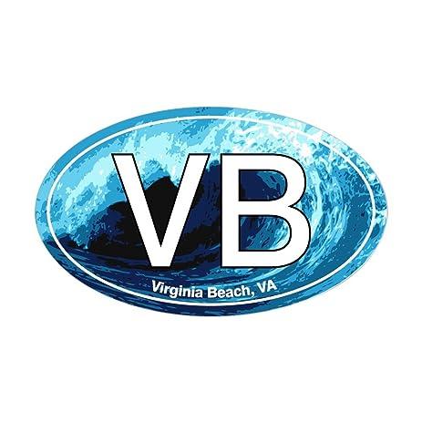 Vb Jl amazon com cafepress vb virginia wave oval oval sticker