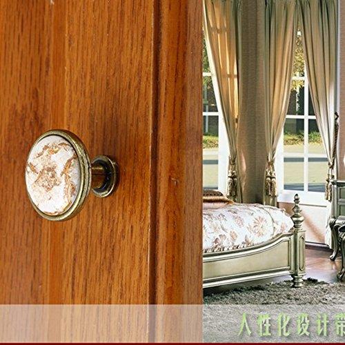 32mm Cabinet Door Drawer Round Handle Pull Knob Marbling Generic