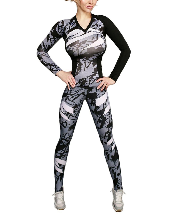Oeak Damen 34 Länge Sport Leggings Hohe Taille Strumpfhose
