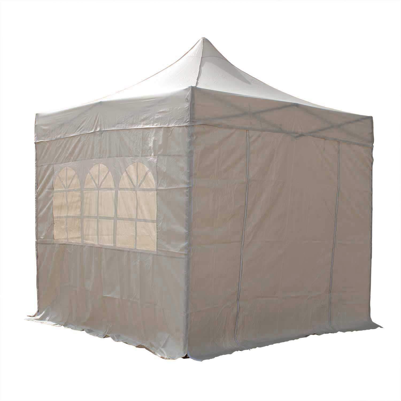 beige 2,5/x/2,5/m 2 Windstangen und 4 Gewichte f/ür die Beine Airwave Pop-Up-Pavillon wasserfester GartenPavillon