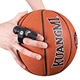 Kuangmi Adjustable Finger Support Sleeve (2 Pieces) Protector Splint Belt Bandage Pain Relief for Men Women Basketball Volleyball Tennis (L/XL, Black)