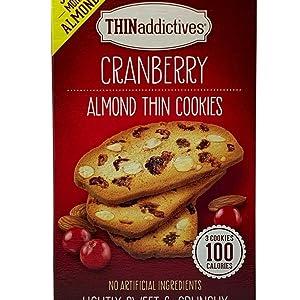 Thin Addictives Cranberry Almond Thins Crunchy 25 Pack 1 Box 1.27 LB - Bulk Savings