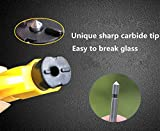 MECULE 2 Pack Keychain Car Escape Tool Seat Belt Cutter Window Glass Breaker Vehicle Car Safety Hammer for Emergency Quick Rescue - Yellow