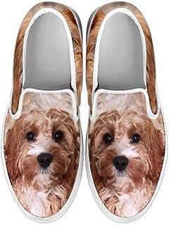 petkanvas Cute Azawakh Print Slip Ons Shoes for Kids