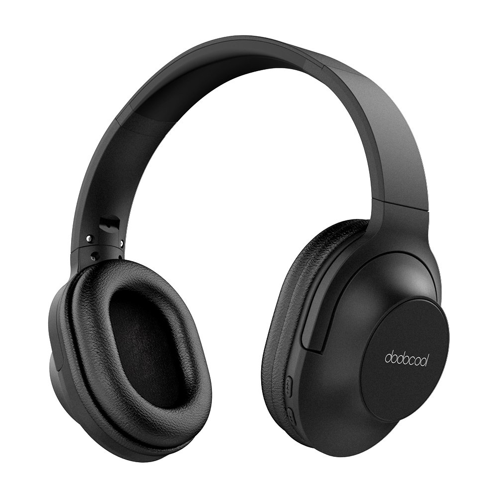 Bluetooth Headphones Over Ear, dodocool Noise Cancelling Bluetooth Headphones, Hi-Fi Stereo and Over-Ear, Comfortable Memory-protein Earpads, Suitable for PC/Cell Phones/TV (black)
