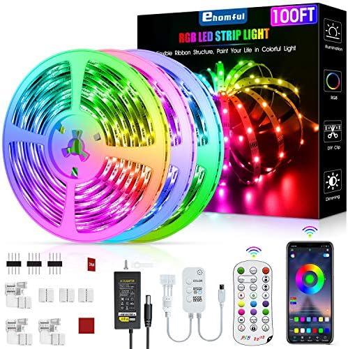 Led Strip Lights 100 Feet, ehomful Color Changing Led Lights for Bedroom,Room and Home Decoration