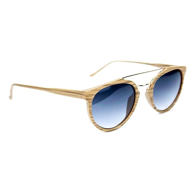 Occhiali Da Sole Unisex Effetto Legno Uomo Donna Marca Isurf (specchio Verde) r403Y4t