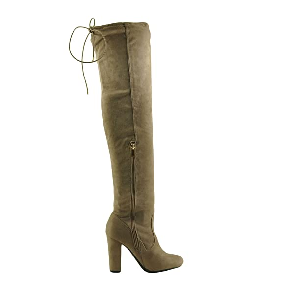 811c67f84d Amazon.com | BAMBOO Hilltop 20M Women's Over The Knee Stretch Zip Boot |  Over-the-Knee