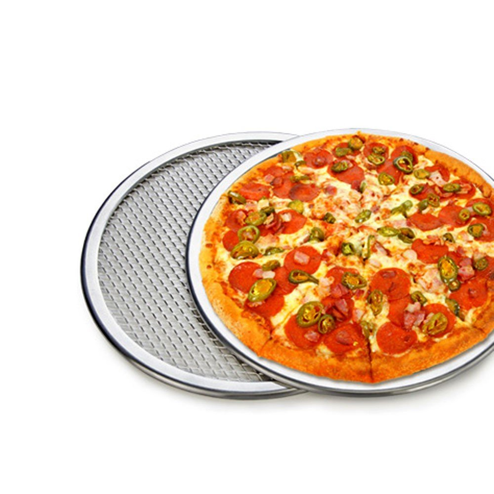 "1 pc New 9"" Seamless Rim Aluminium Mesh Pizza Screen Baking Tray Pizza Making Net Cookware Bakeware Baking Tool Pizza Tool"