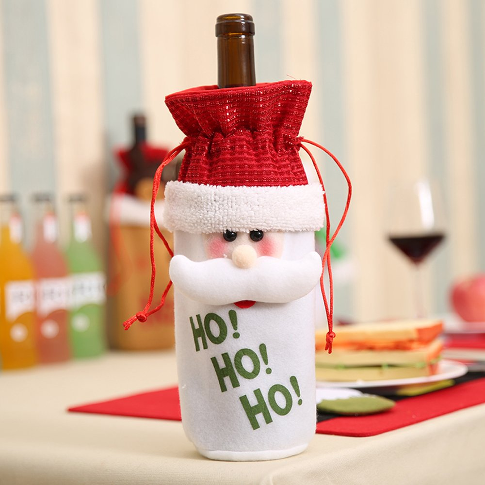 HOHO Christmas Wine Bottler Gift Bags (Set of 4)