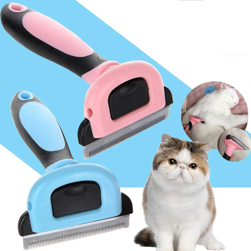 Shuzhen,Mascota Perro Gato Gato Peine Peine Cepillo de eliminación de Pelo Preparación Limpiar Herramientas con Mango(Color:Rosado,Size:s): Amazon.es: Productos para mascotas