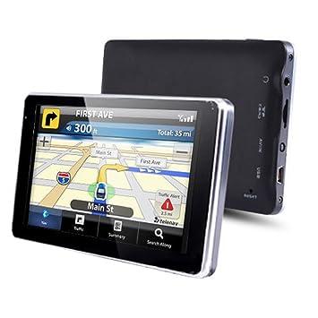 """NozaTec Navegador GPS para Coche 7"""" con Blutooth Pantalla Táctil SpeedCam IGO8 Mapa Europea de"""