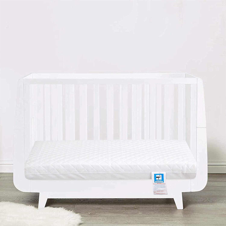 93 x 64 x 6 cm funda impermeable Abeera cuna Colch/ón de espuma para cuna de beb/é columpio transpirable extra grueso acolchado cuna o mois/és Colch/ón antial/érgico para cochecito de beb/é