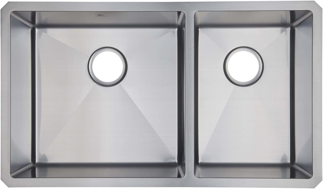 Starstar Kitchen Sink 60 40 Double Bowl Undermount 304 Stainless Steel 16 Gauge
