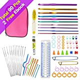 90pcs 22 Sizes Crochet Hooks Set
