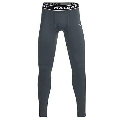 Baleaf Youth Boys' Thermal Baselayer Tights Fleece Leggings