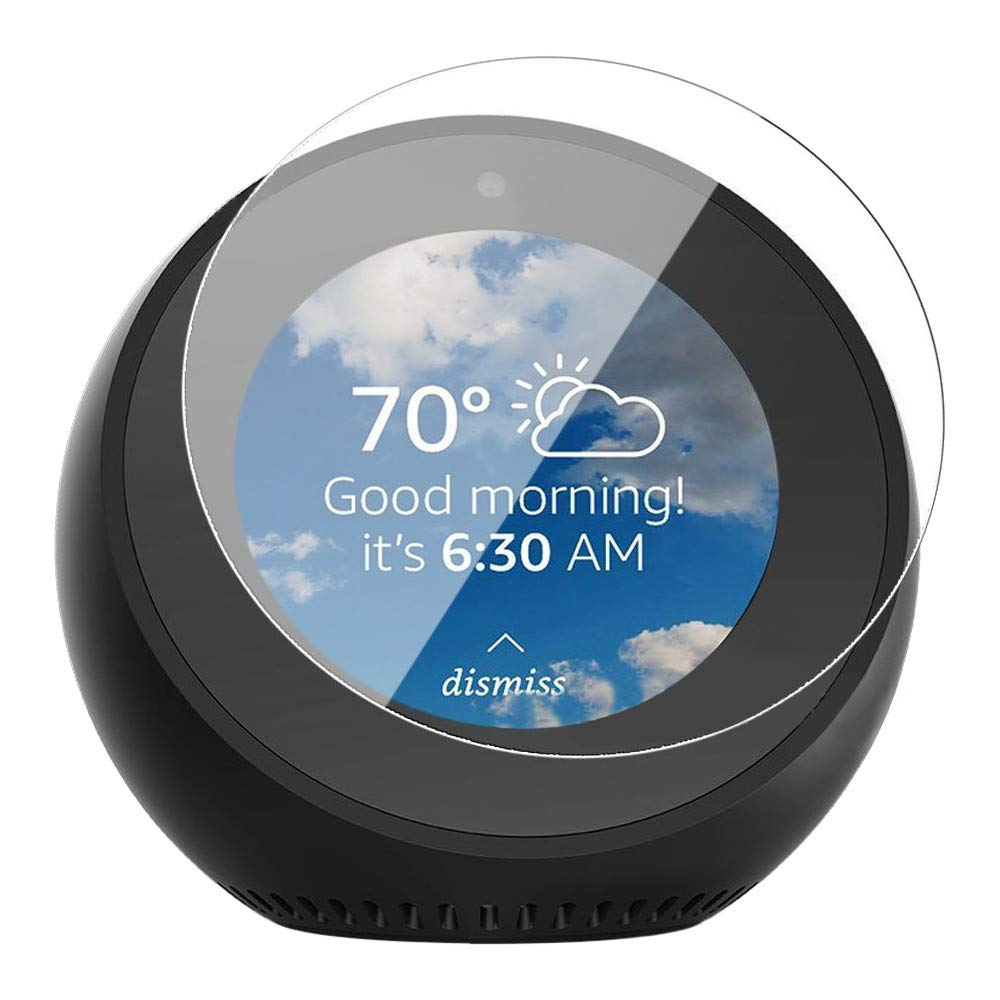 Unpara 2 PC Screen Protector Full Coverage Tempered Compatible Amazon Echo Spot (Clear)